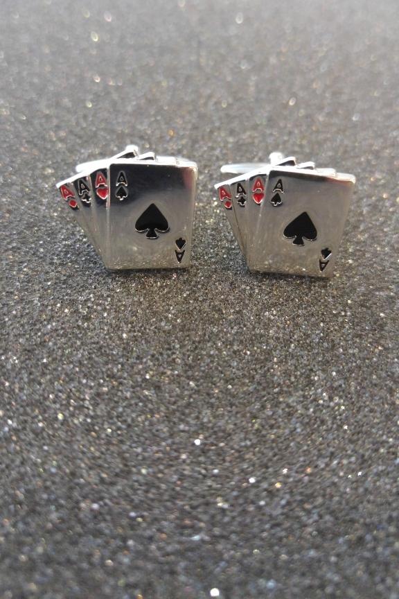 Μανικετόκουμπα Άσσοι  Aces  - Πρωτότυπα Μανικετόκουπα -Accesstory.gr 6f8fdf0ace9
