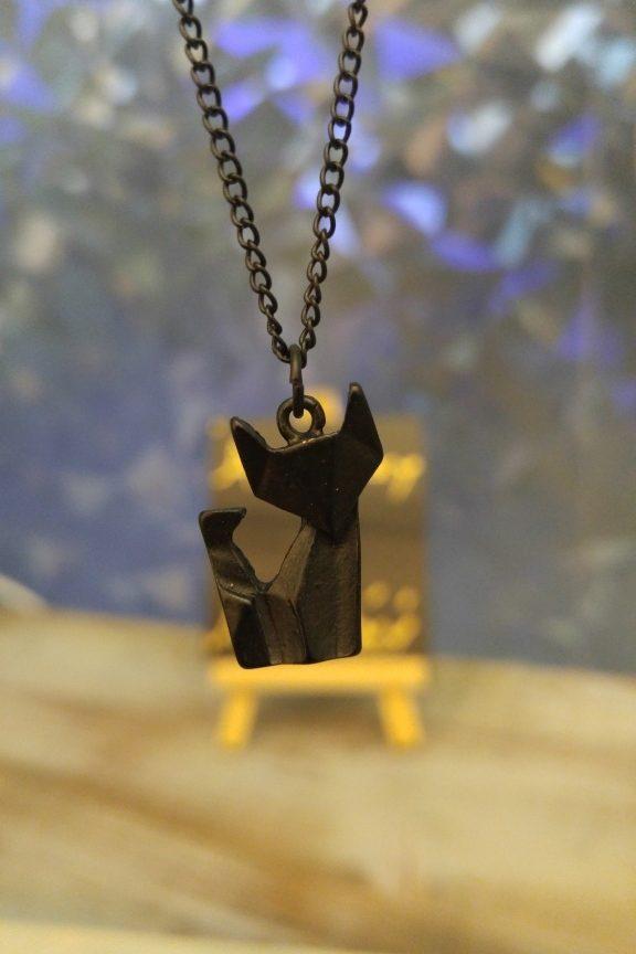 κολιέ-origami-αλεπού-μαύρο