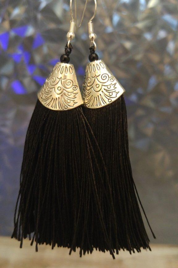 σκουλαρίκια-κρόσια-μαύρα