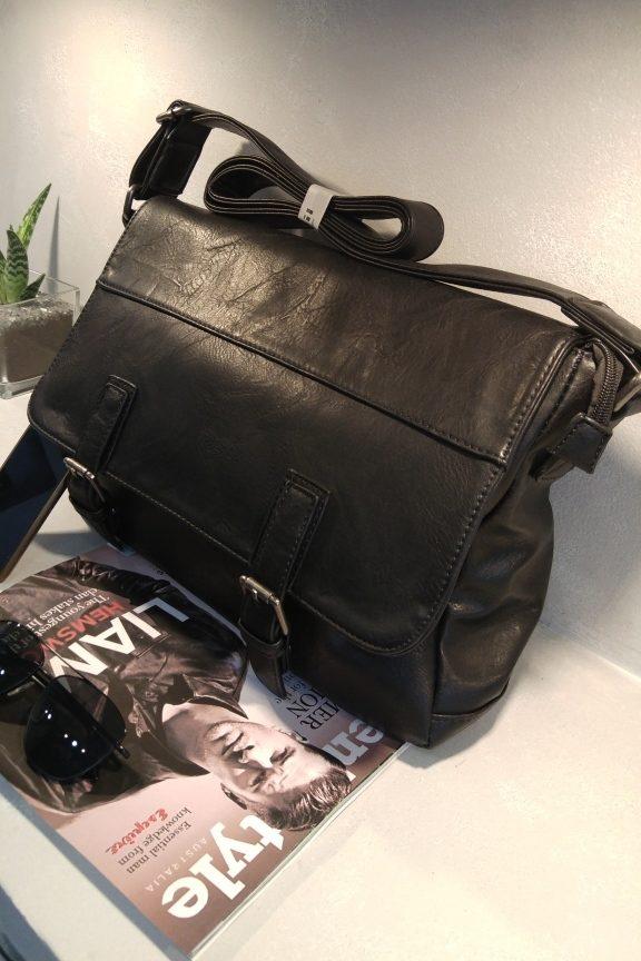 ανδρική-τσάντα-ταχυδρόμου-μαύρη