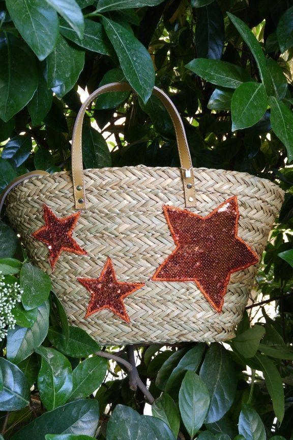 τσάντα-παραλίας-ψάθα-αστέρι