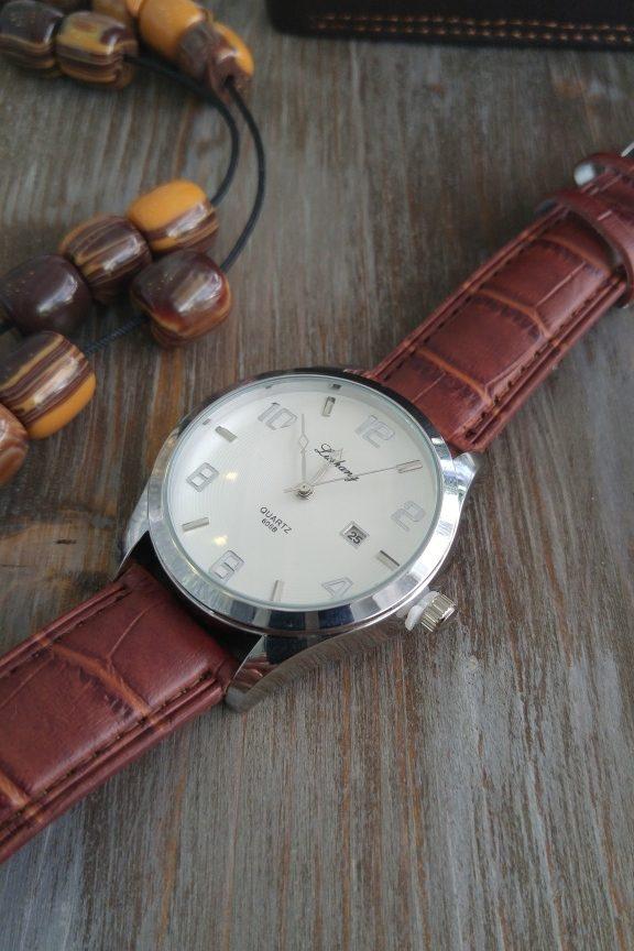 ανδρικό-ρολόι-κλασικό-καφέ
