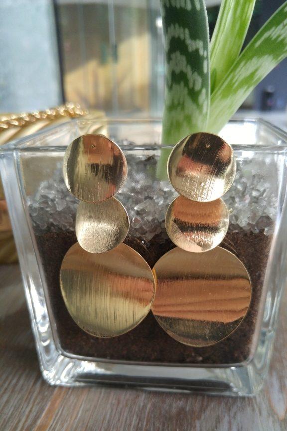 σκουλαρίκια-κύκλοι-χρυσά