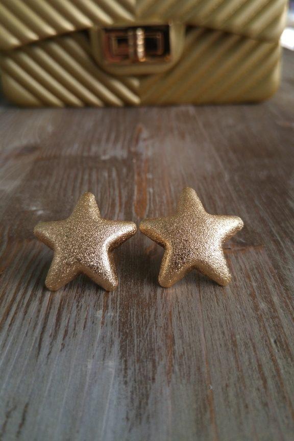 σκουλαρίκια-αστέρι-χρυσό