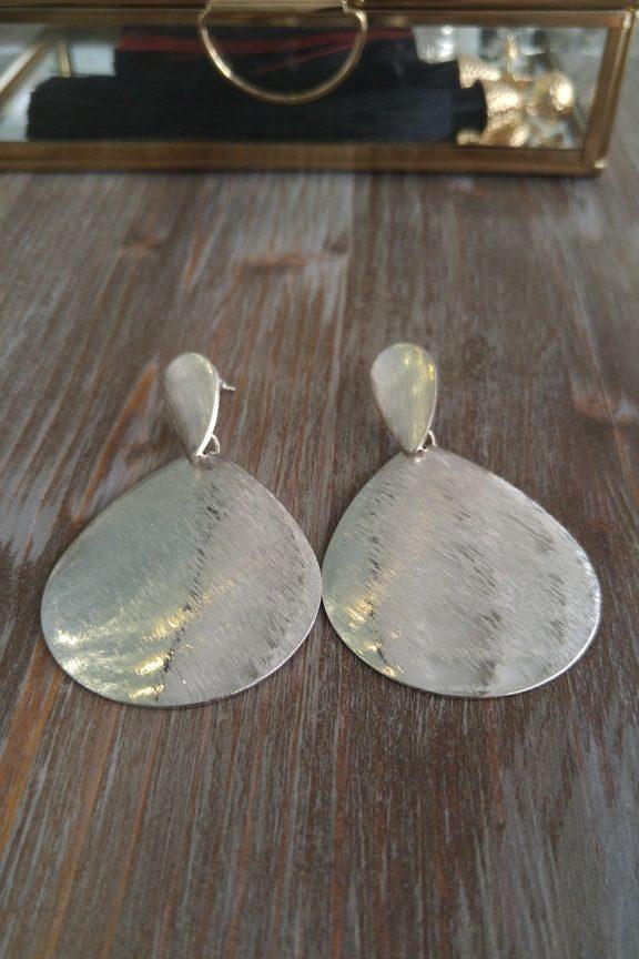 σκουλαρίκια-οβαλ-ασημί