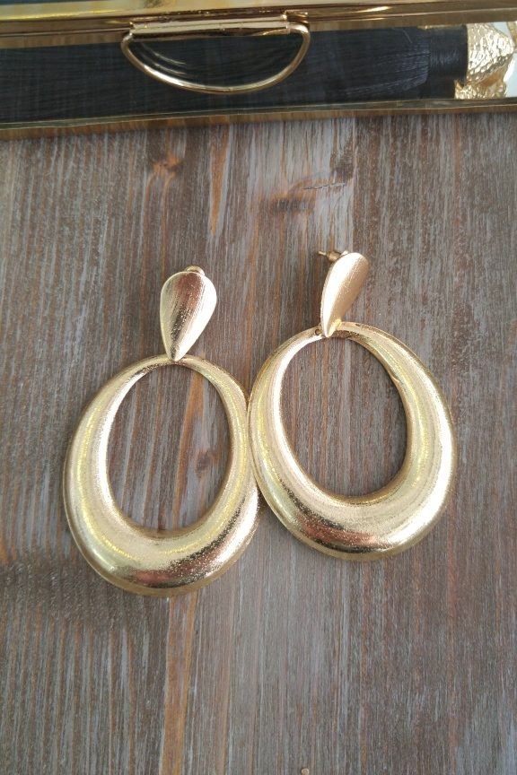 σκουλαρίκια-χρυσά-οβάλ