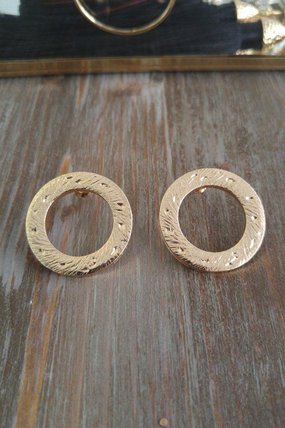 σκουλαρίκια-χρυσά-σφυρήλατα-κύκλοι