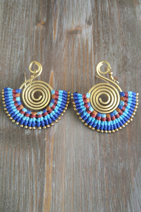 Χειροποίητα σκουλαρίκια Mahatma - Accesstory.gr - Wear your story! 79cb7976c60