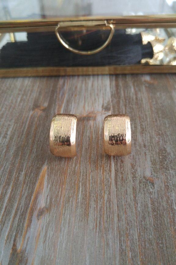 σκουλαρίκια-κρικάκια-σφυρήλατα-χρυσό