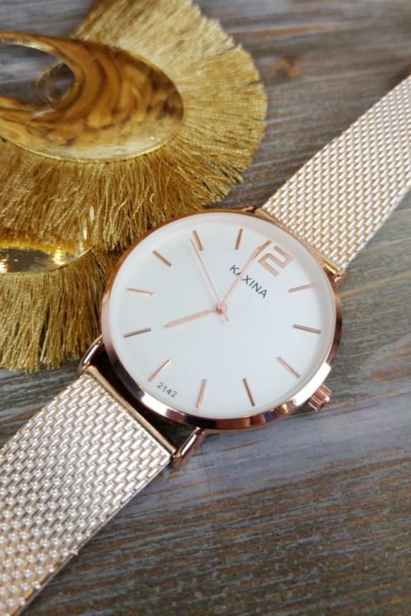 γυναικείο-ρολόι-ροζ-χρυσό-λευκό