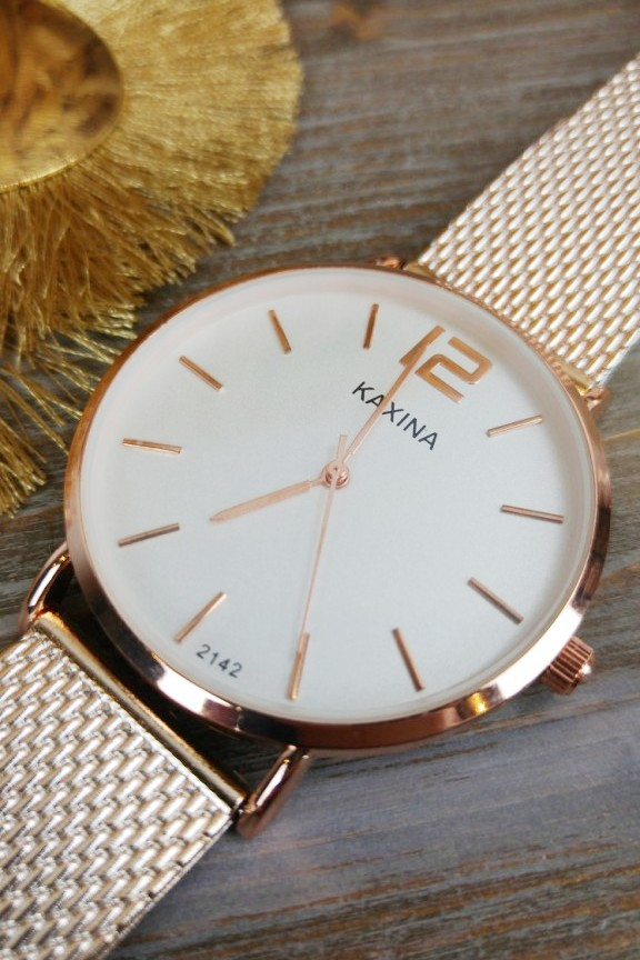 Ρολόι  Monmarte  Ροζ Χρυσό με λευκό καντράν - Accesstory.gr cf671e30f27