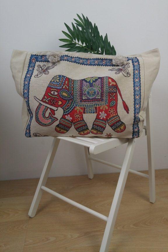 τσάντα-παραλίας-λευκή-ελέφαντας