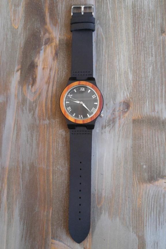 Ξύλινο ρολόι  Ghost  μαύρο λουράκι - Ξύλινα ρολόγια σε έκπτωση μέχρι ... 62a7339e9e2
