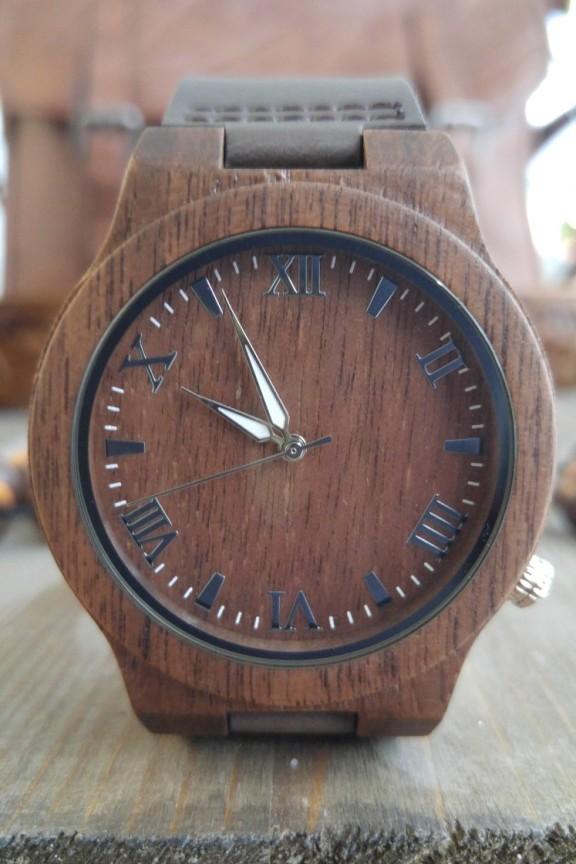 Ξύλινο ρολόι  Oak Story  καφέ λουράκι - Accesstory.gr 0090c990160