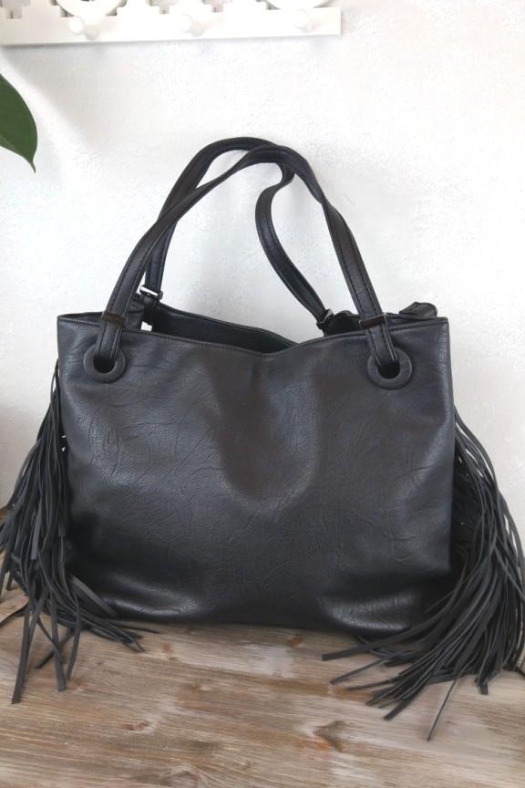 Τσάντα ώμου κρόσια μαύρη  Cleveland  - Τσάντες με κρόσια - Accesstory.gr a274cf2fc5a