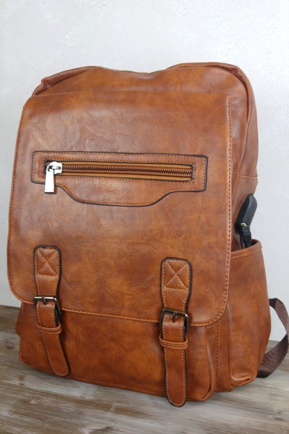 bf144e75a0 Backpack Laptop Ανδρικό Καφέ  Tokyo  USB - Accesstory.gr