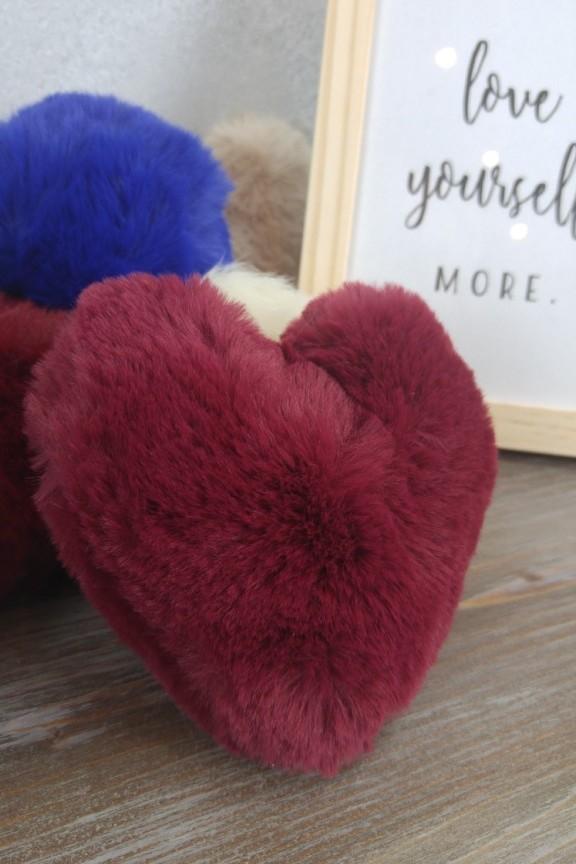 μπρελόκ-γουνάκι-καρδιά-κόκκινο