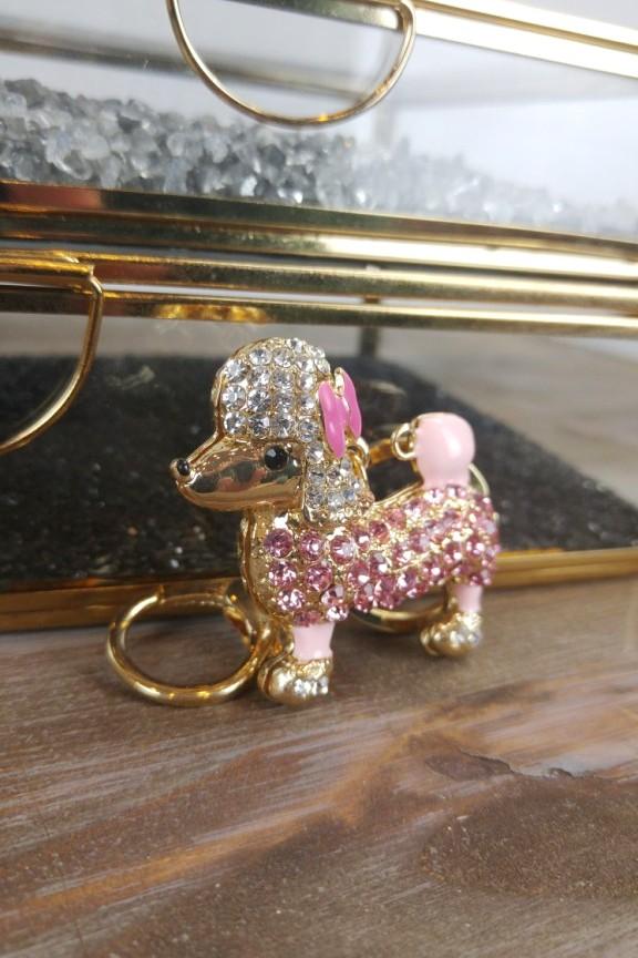 μπρελόκ-σκυλάκι-ροζ