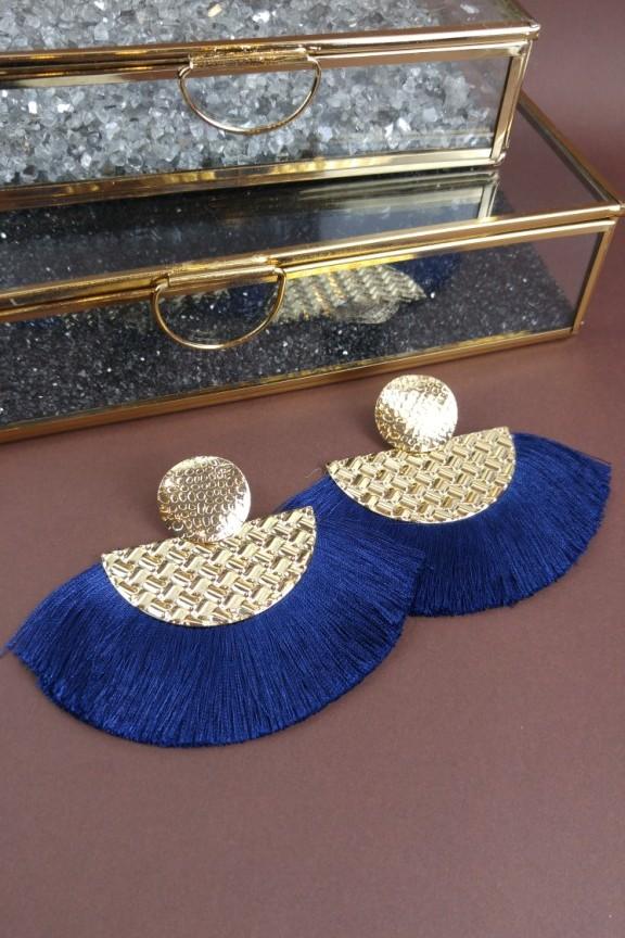 σκουλαρίκια-κρόσσια-μπλε