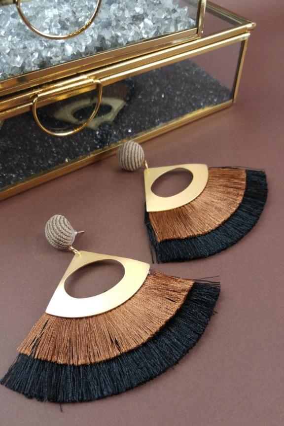 σκουλαρίκια-κρόσια-καφέ-μαύρο