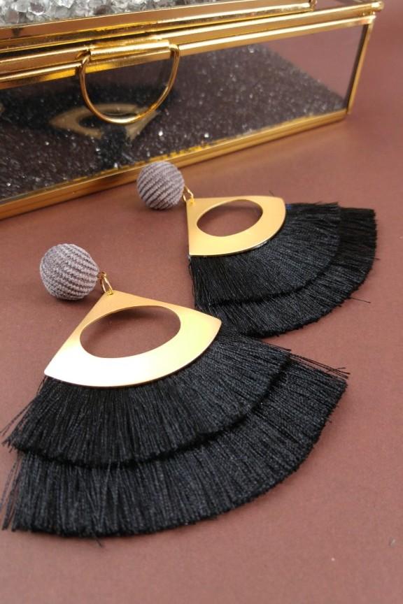 σκουλαρίκια-κρόσια-oversized-μαύρο