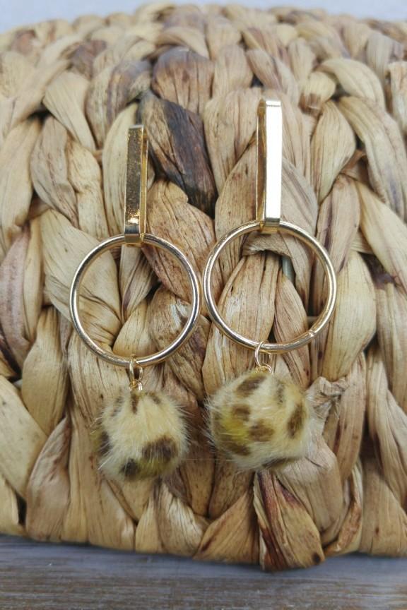 σκουλαρίκια-animal-print-μπάλες