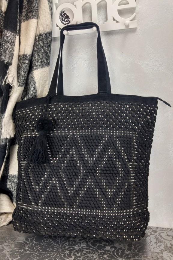 Τσάντα χειροποίητη πλεκτή μαύρη  Nirvana -Πλεκτές τσάντες-Accesstory.gr 9734919a154
