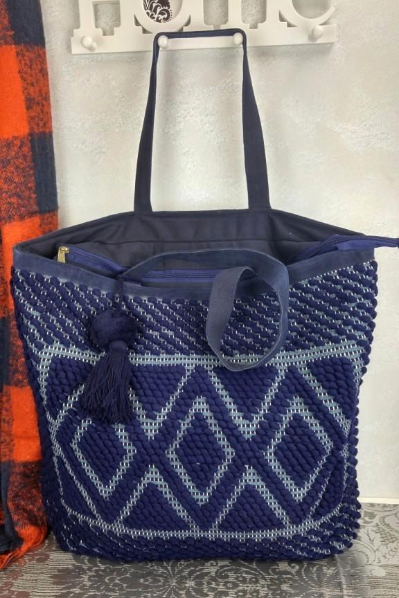 τσάντα-χειροποίητη-πλεκτή-μπλε
