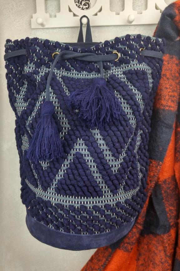τσάντα-χειροποίητη-πλεκτή-πλάτης-μπλε