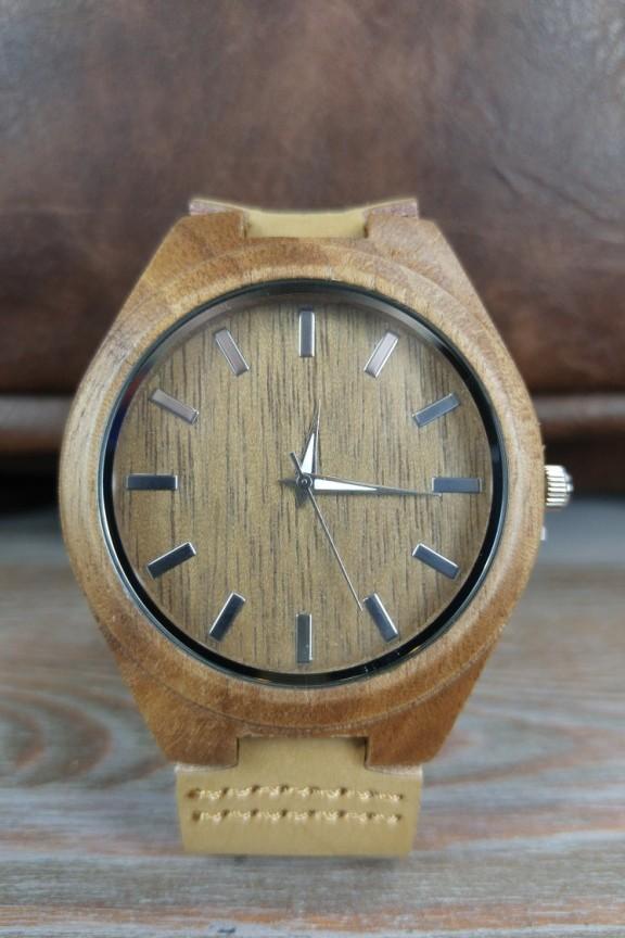 ξυλινο-ρολόι-καφέ-ανοιχτό