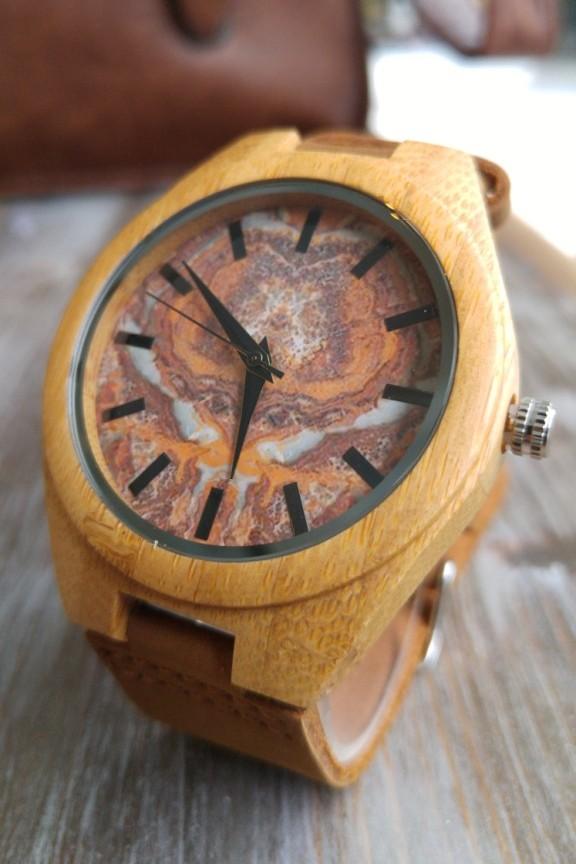 Ξύλινο ρολόι  Blast  καφέ λουράκι - Ρολόγια Bamboo - Accesstory.gr 7b436a1983c
