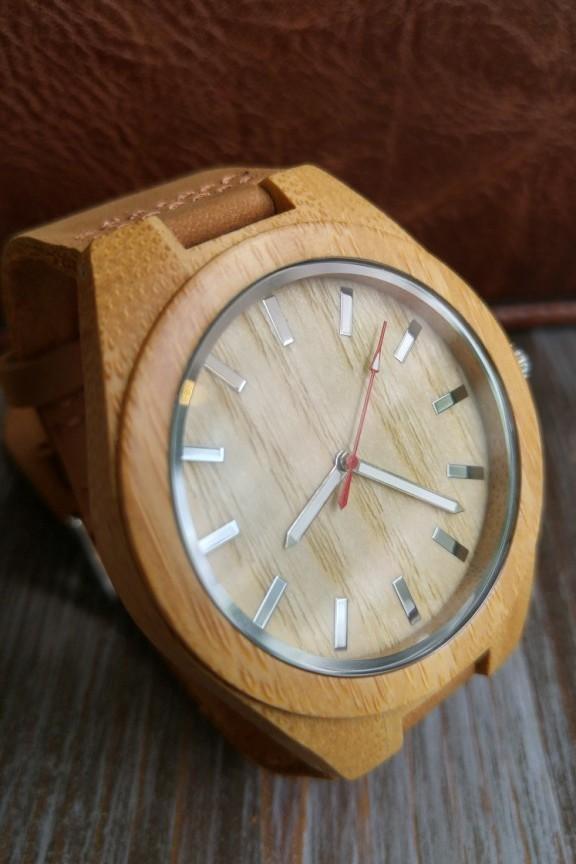 Ξύλινο ρολόι  Simplicity  καφέ λουράκι - Ξύλινα ρολόγια - Accesstory.gr 0ef9e76858b