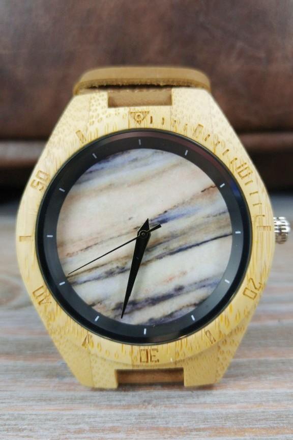 ξύλινο-ρολόι-μάρμαρο