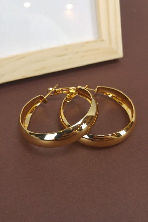 σκουλαρίκια-κρίκοι-χοντροί-χρυσό