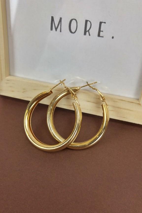 σκουλαρίκια-κρίκοι-χρυσό