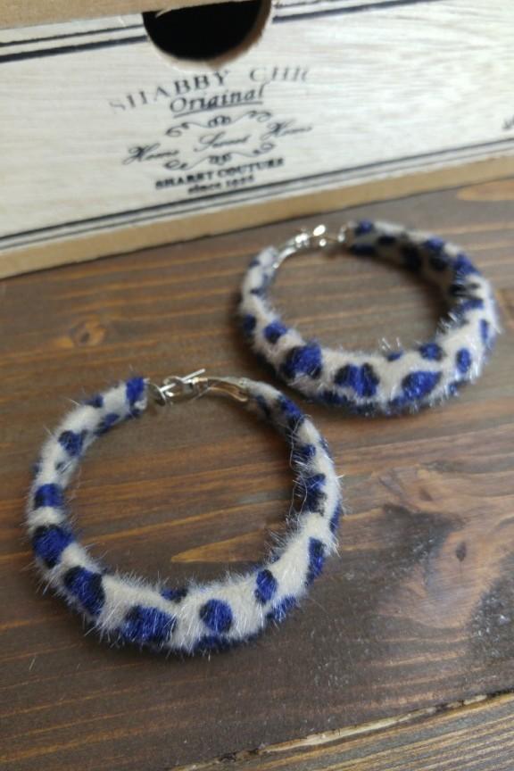 σκουλαρίκια-κρίκοι-prints-μπλε