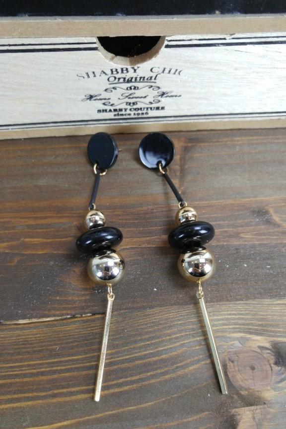 σκουλαρίκια-μαύρα-χρυσό