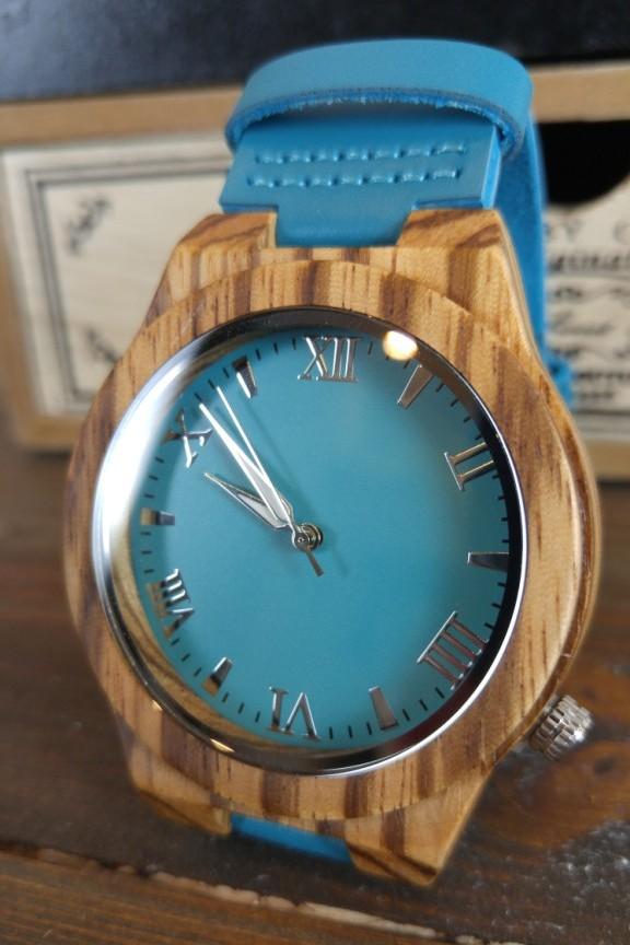 ξύλινο-ρολόι-γαλάζιο