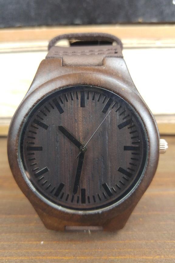 Ξύλινο ρολόι  Strong Coffee  καφέ λουράκι - Accesstory.gr 917245ac198