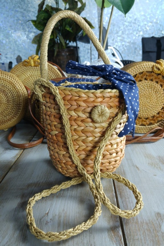 7a1b4d31bf Ψάθινη τσάντα καλαθάκι  Secilia  - Ψάθινες Τσάντες - Accesstory.gr