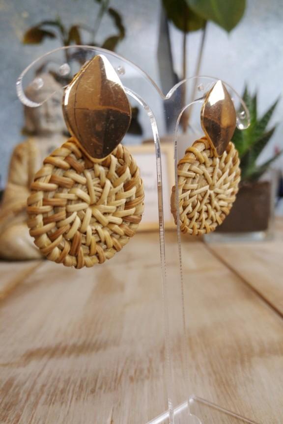 σκουλαρίκια-μπαμπού-καφέ