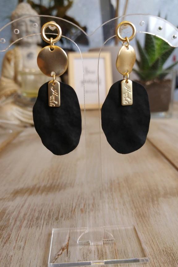 σκουλαρίκια-πέτρα-μάυρα