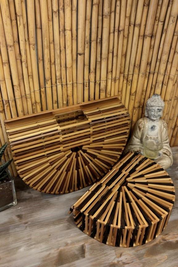 Ξύλινη τσάντα bamboo  Sandstorm  καφέ-μαύρο χρώμα (μεγάλη) 8cac05b30a4