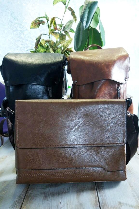 τσάντα-ταχυδρόμου-δερματίνη-καφέ