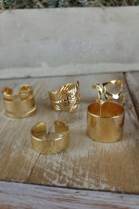σετ-δαχτυλίδια-one-size-χρυσό