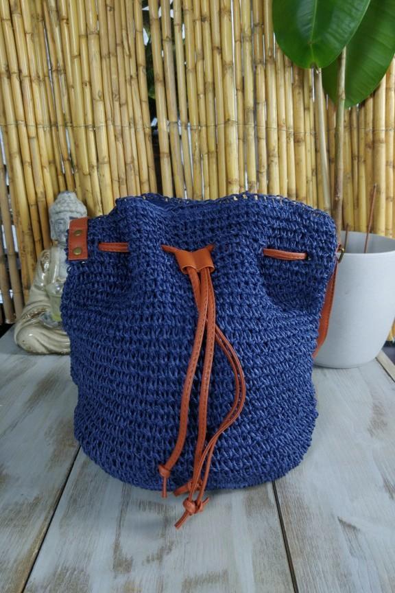 ψάθινη-τσάντα-μπλε