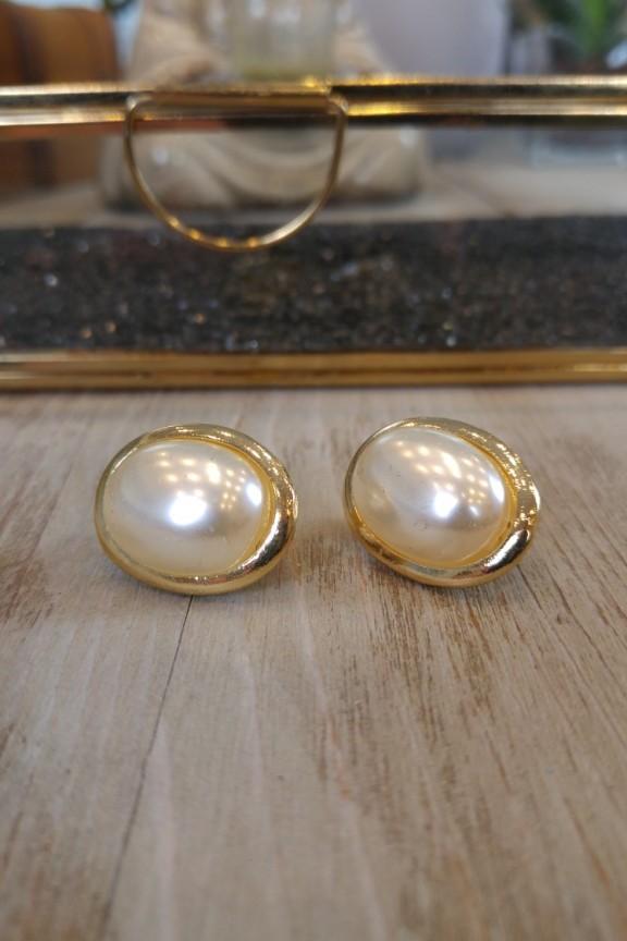 σκουλαρίκια-κλιπ-πέρλες