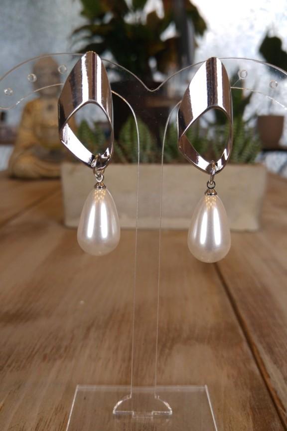 σκουλαρίκια-πέρλες-ασημί