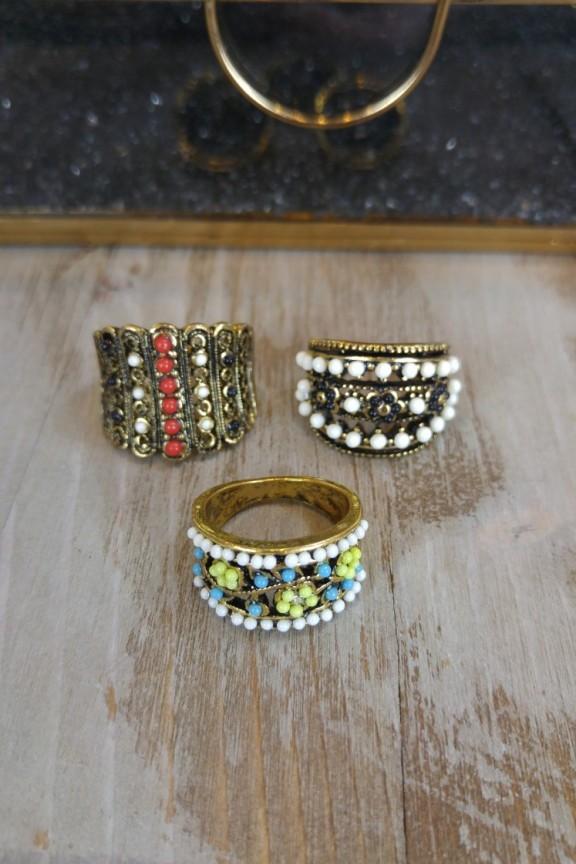 δαχτυλίδια-boho-σετ