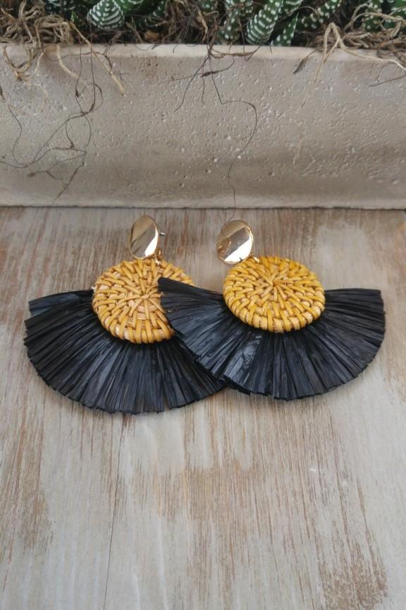 σκουλαρίκια-μπαμπού-μαύρα